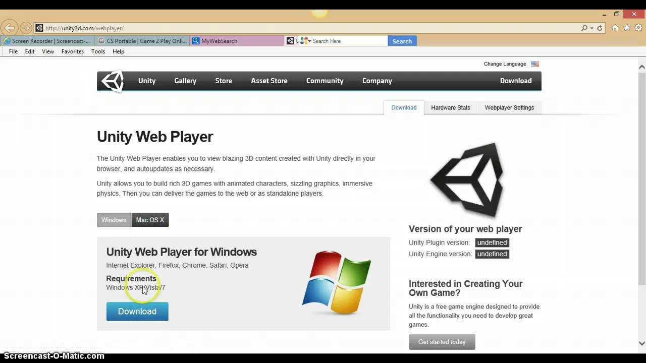 Скачать бесплатно unity web player d полная версия на