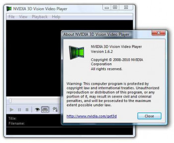 NVIDIA 3D Vision Video Player