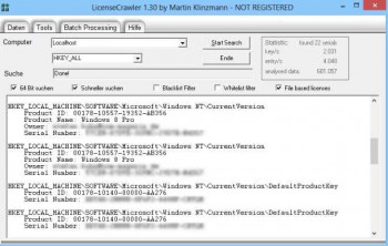 LicenseCrawler Portable