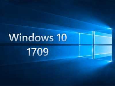 Windows 10 Update 1709